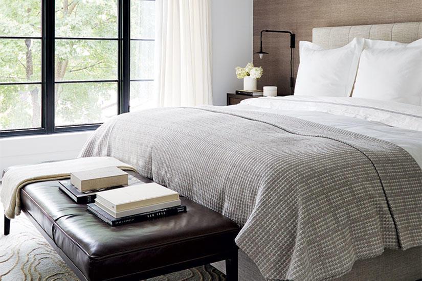 Sophisticated and serene master bedroom